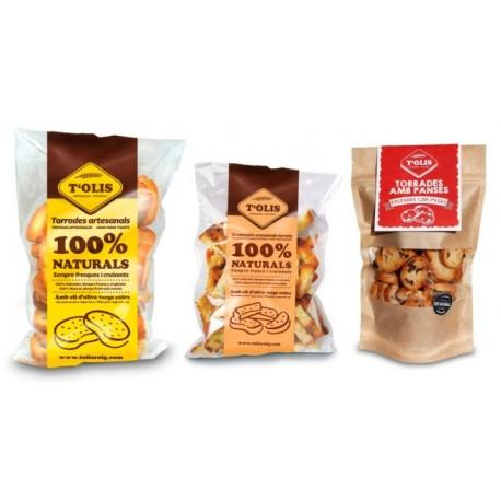 Pack de torrades artesanals gourmet