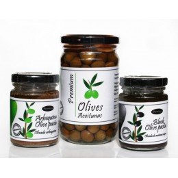 Pack of olives and olive pasta